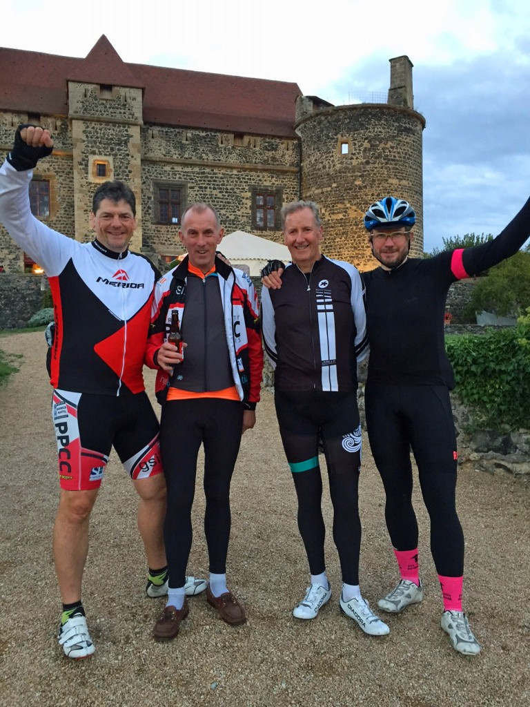 WE''VE DONE IT: Philip Holford, left, of Myddelton & Major, with the team Allan Hilder, Steve Skinner and James Prowse after completing the the 520-mile Massif Challenge