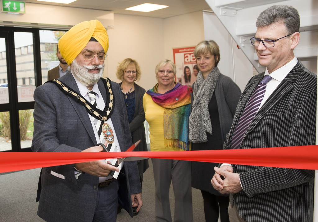 AE Tuition has opened a second tuition centre in Langley, Slough. It was officially opened by the town's Mayor Cllr Arvind Dhaliwal (leftt), picured with AE Tuition owner Dr Stephen Curran (right).