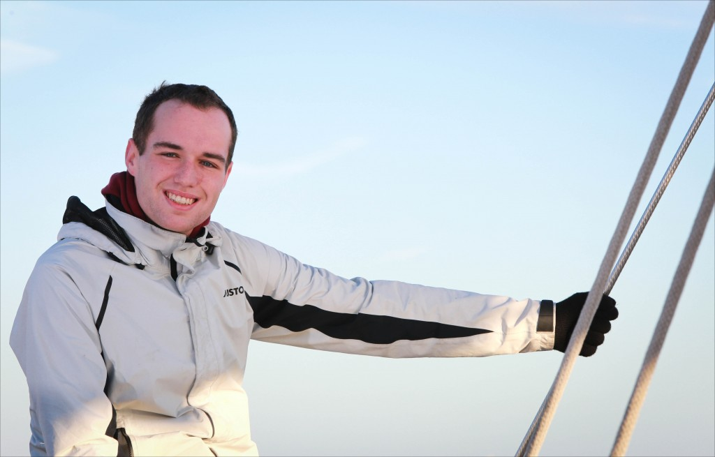CAREER CHANGE: Andrew Northall, 22, from Birkenhead in Merseyside, quit his job as floor manager at McDonald's to pursue a career in sailing. He will be watch leader with First Class Sailing during the 2016 Atlantic Rally for Cruisersn (ARC). The race begins in Las Palmas on November 20 and finishes in St. Lucia just over two weeks later.
