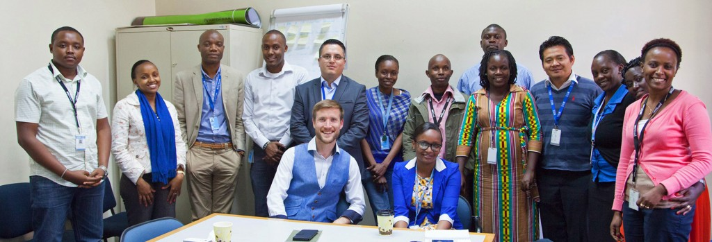 REBRANDING: Ross Thornley, Strategic Director of RT Brand Communications (in waistcoat) running workshops with colleagues and members of the UNV team in Nairobi, Kenya. RT Brand Communications, of Wimborne, spent 14 months rebranding the United Nations Volunteers (UNV) UNV to reposition and modernise the way the global organisation communicates and operates