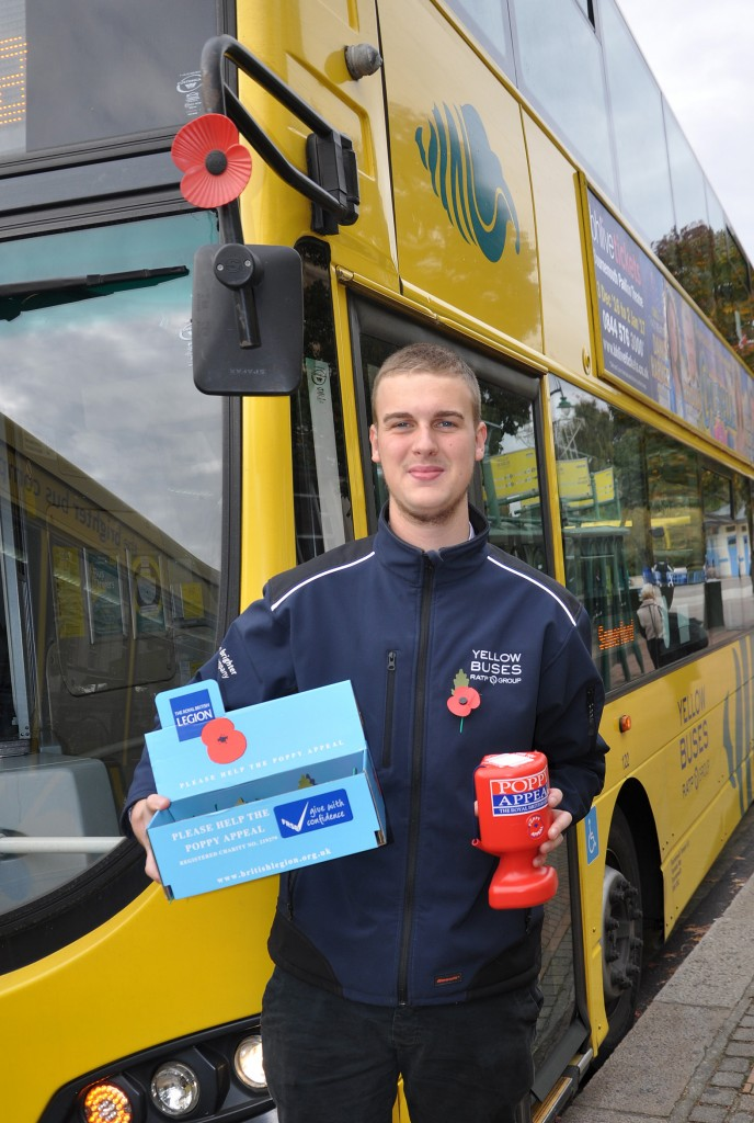Ollie Wheatley from Yellow Buses whose drivers will be stopping on 11 November at 11am to remember the war dead.