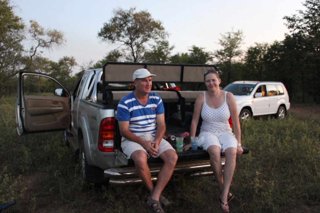 Craig Kuttner and wife Robyn in Zimbabwe before they had to leave. Their new business in the UK is booming despite it being less than a year old.