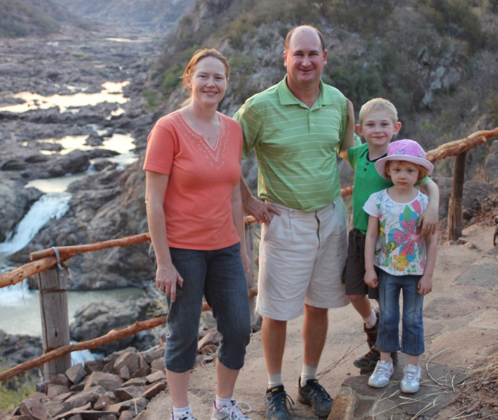 Craig Kuttner and wife Robyn with their children in Zimbabwe before they had to leave. Their new business in the UK is booming despite it being less than a year old.