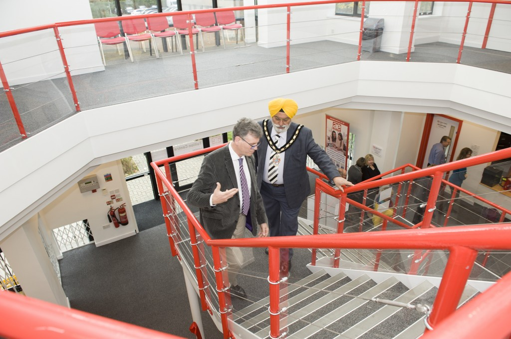 AE Tuition has opened a second tuition centre in Langley, Slough. It was officially opened by the town's Mayor Cllr Arvind Dhaliwal (right), picured with AE Tuition owner Dr Stephen Curran.
