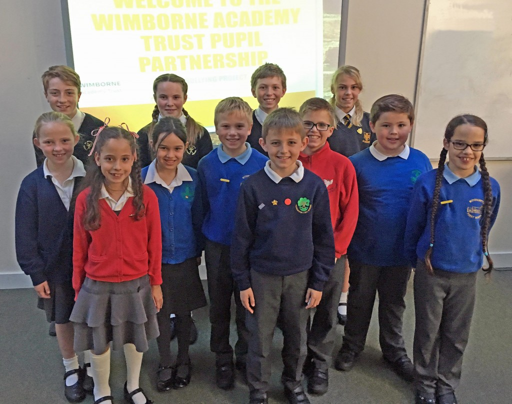 PARTNERS. Children from Wimborne Academy Trust have formed a new partnership to help ensure bullying does not happen at their schools.