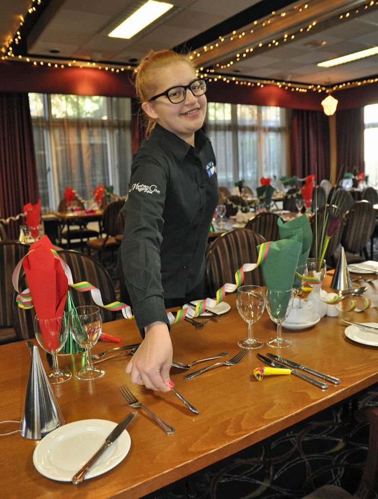 Marsham Court Hotel CHI students gain practical skills from across the hotel's different departments. Pictured: student Jessica Fernandes- Nobrega