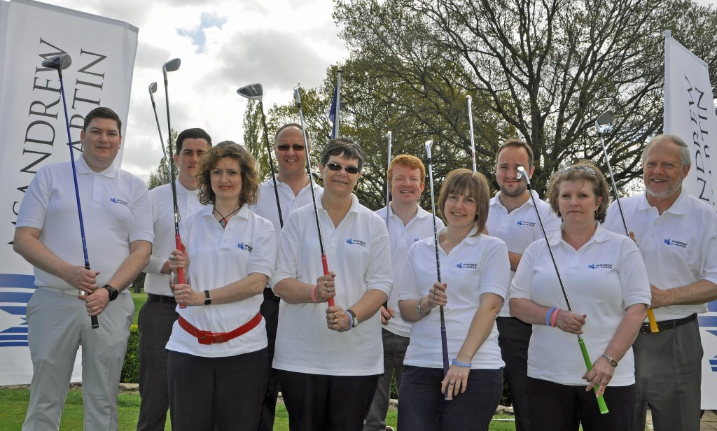 SURVEYORS ON COURSE: Property professionals are teeing off in McAndrew Martin's third charity golf day