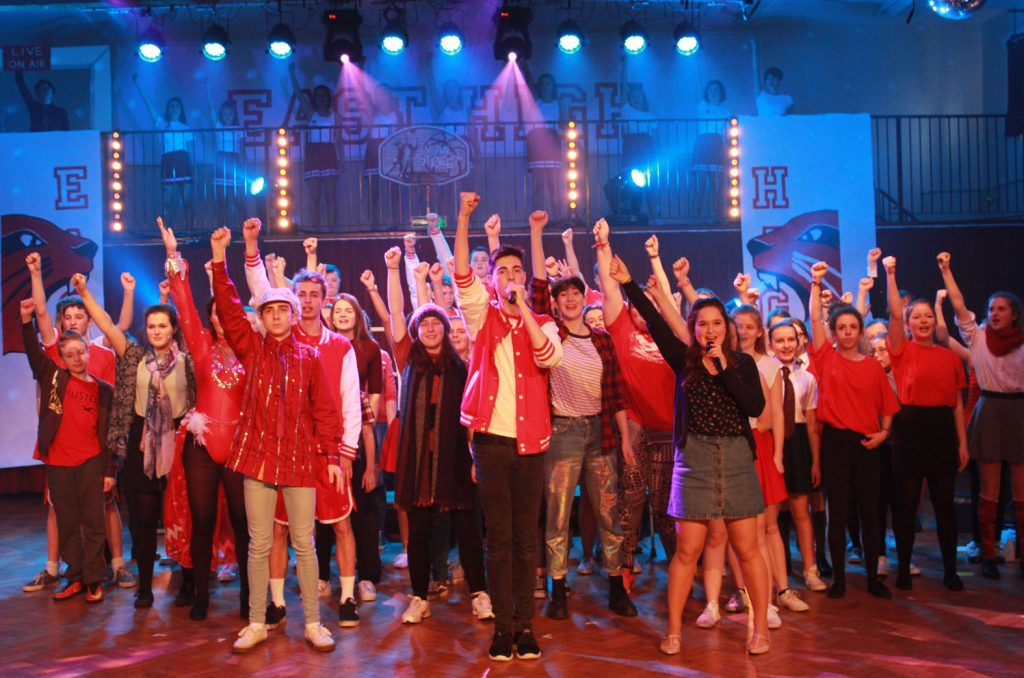 The Arnewood School staged sell-out performances of High School Musical. Here is the cast in action.