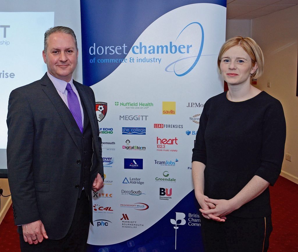 SURVEY: Ian Girling from DCCI and Lorna Carver from Dorset LEP