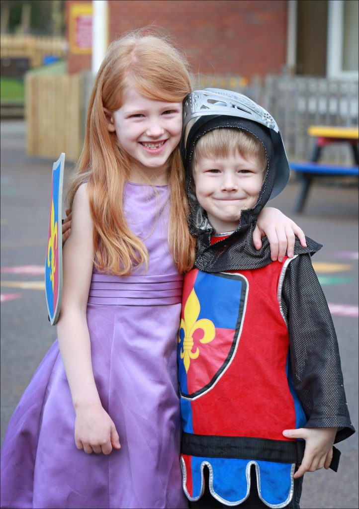 Seven year old Emma Denton of Merley First School before cutting the hair she will donate to the Little Princess Trust after spending two years growing it back after her previous donation. Pictured with little brother Samuel.