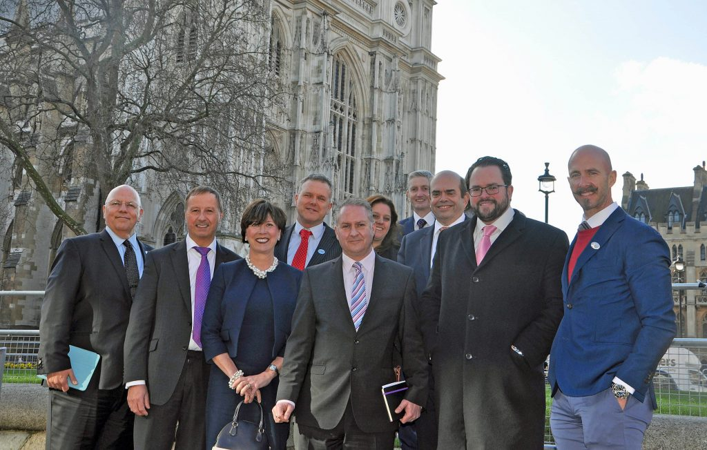 CONFERENCE CALL: Some members of the delegation from Dorset Chamber of Commerce and Industry (DCCI) who attended the 2017 British Chambers of Commerce conference in London