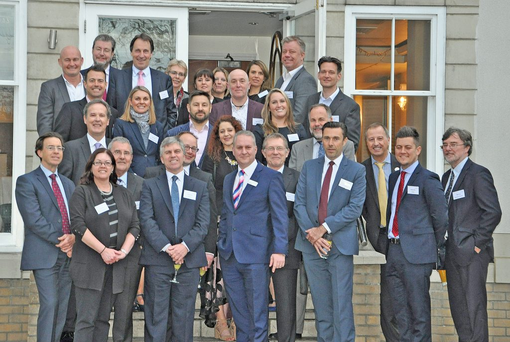 DORSET ON A HIGH: DCCI's Platinum Business Partners at their annual dinner at the the King's Arms Hotel in Christchurch. DCCI now has a record 27 Platinum Business Partners and two Premier Partners