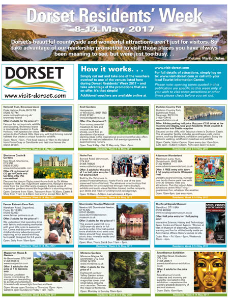 The Dorset Residents' Week promotion, delivered with Your Dorset newspaper, includes money-off vouchers for local residents