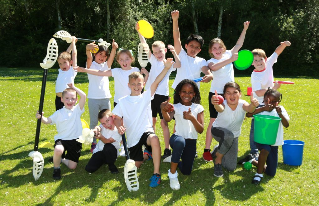 Hightown Primary School pupils enjoyed a sporting day with the help of Southampton Solent University's sports roadshow.