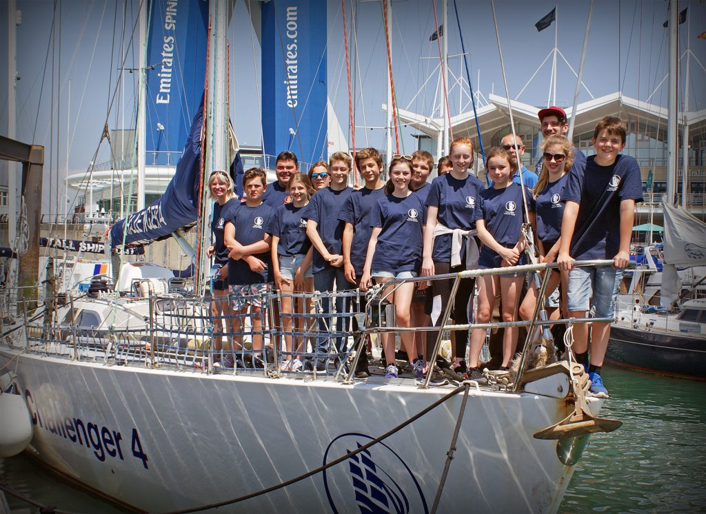 SHIP AHOY! Ten students from St Michael's School embarked on a five-day Tall Ships Adventures voyage around the English Channel. Here they are pictured on their ship, Challenger 4, when it was docked in Portsmouth.