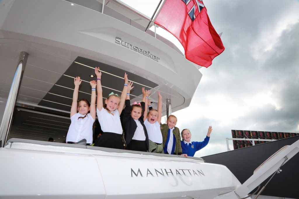 Pupils from Hightown Primary School enjoyed a visit to Southampton Boat Show, looking round the Sunseeker stand.