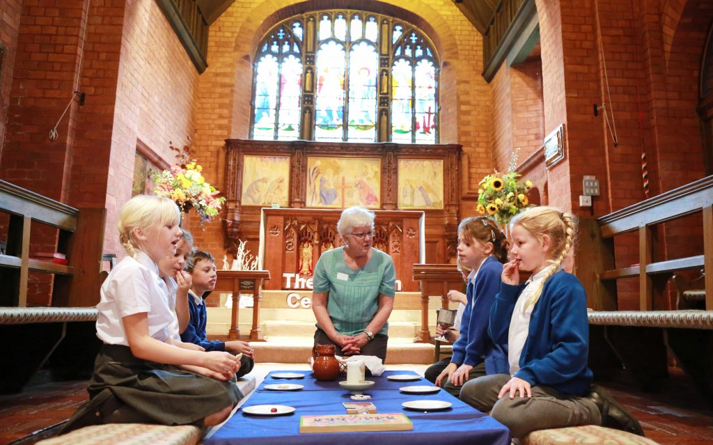 Colehill First School visited St Michael and All Angels Church, Colehill.