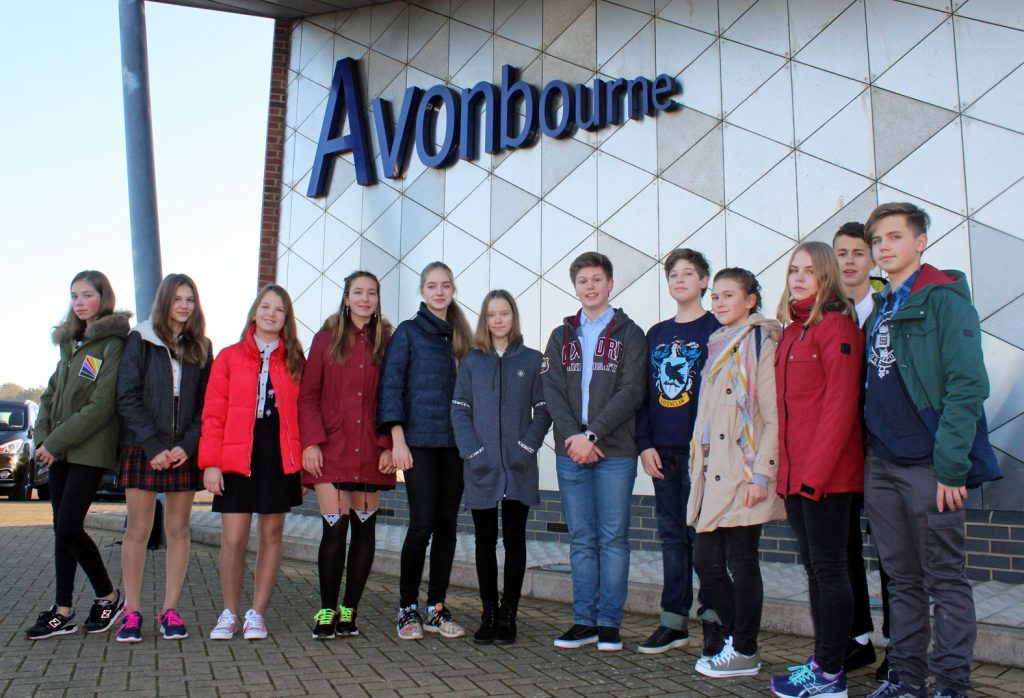 Russian students discovered what is like to learn in a British school, thanks to the hospitality of Avonbourne College. Here are some of the students pictured during their stay.