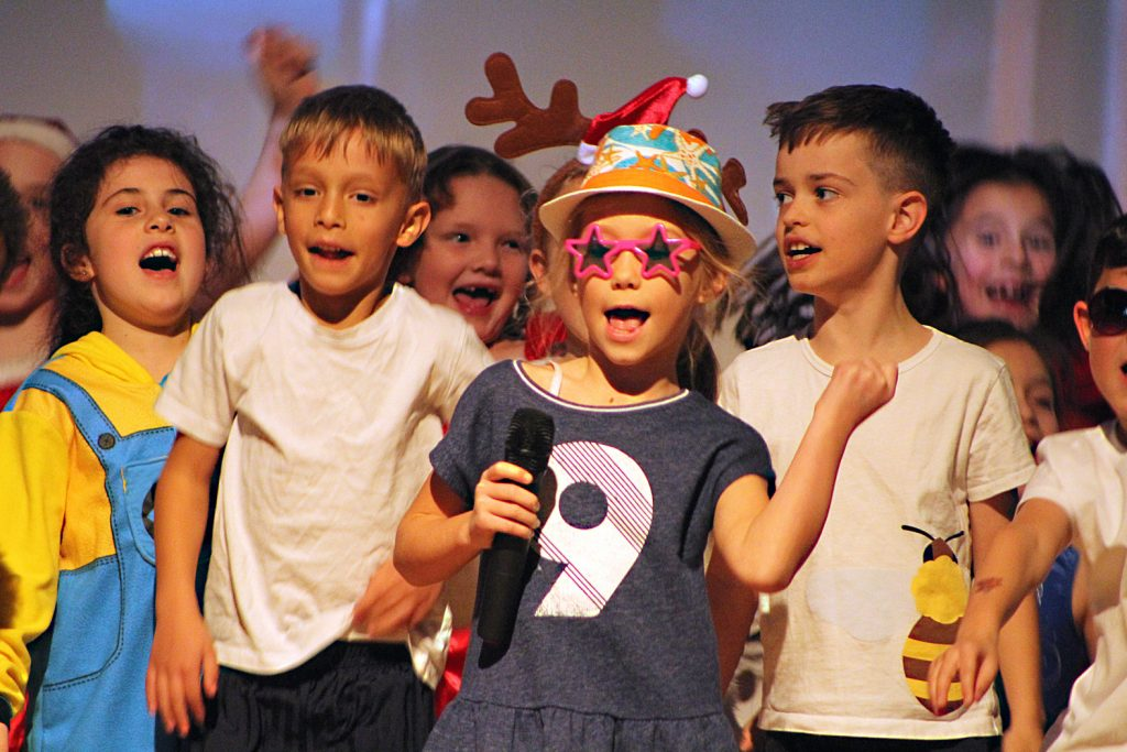 The talented cast of perfomers in Avonwood Primary's Got Talent show.