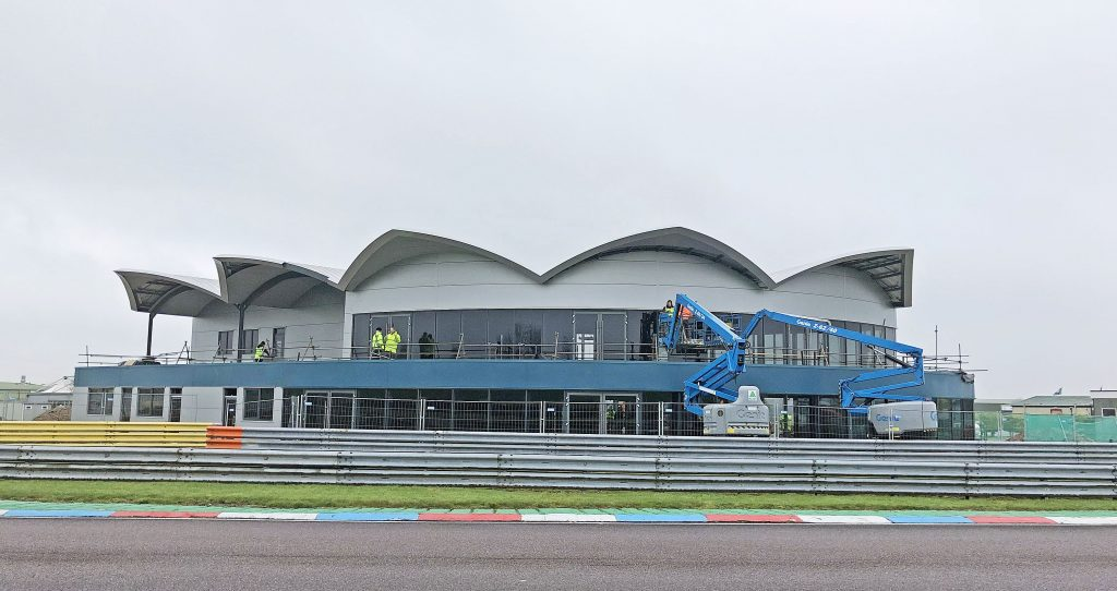REVS: Work is nearing completion on a flagship hospitality centre at the iconic Thruxton Motorsports Centre