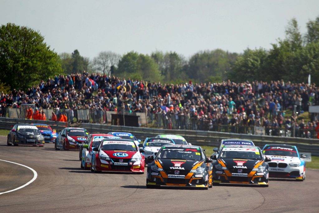 DRIVING SEATS: Cars racing on the iconic Thurxton circuit (Picture: Thurxton Circuit)