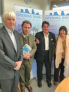 HOUSING: from left Cllr Tim Yarker, West Dorset MP Oliver Letwin, Cllr Graham Carr-Jones and Cllr Gill Taylor