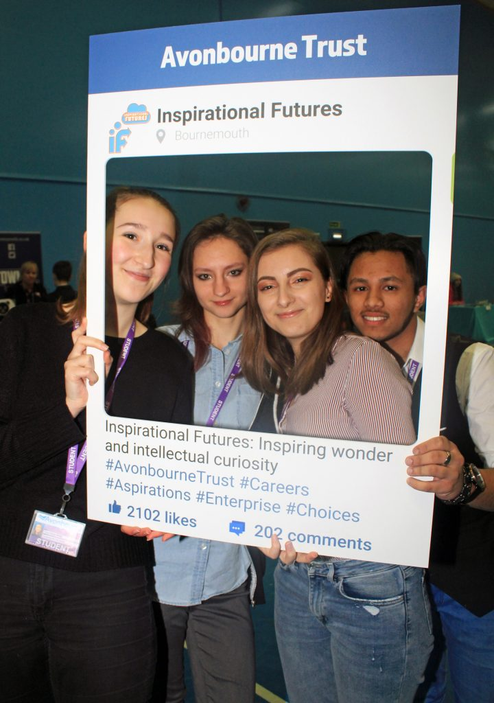 INSPIRATIONAL: Avonbourne Trust launched its new Inspirational Futures programme at a special careers fair. Students from Avonbourne Sixth Form enjoy the fair.