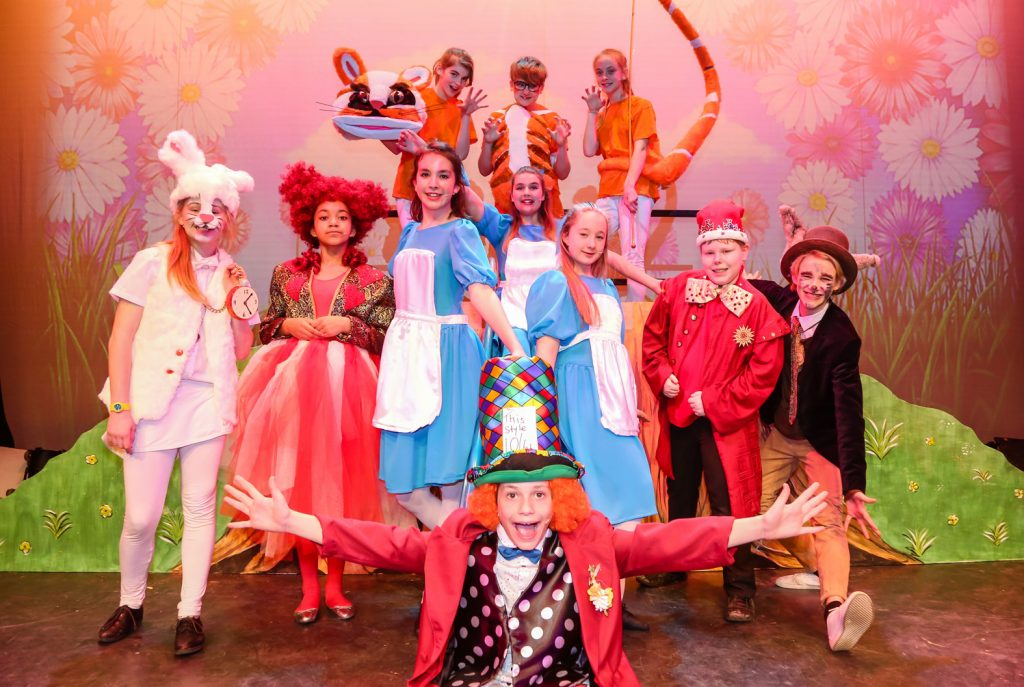 St Michael's CE Middle School production of Alice in Wonderland at the Layard Theatre, Canford School.
