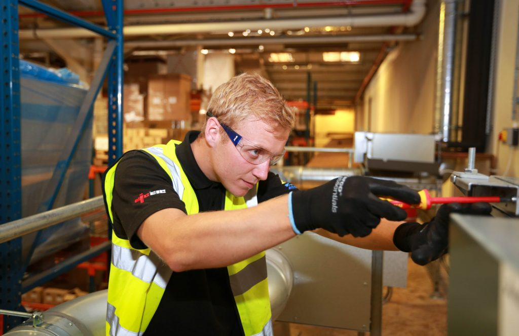 COOL: Callum Moore from Closewood Ltd checks a system