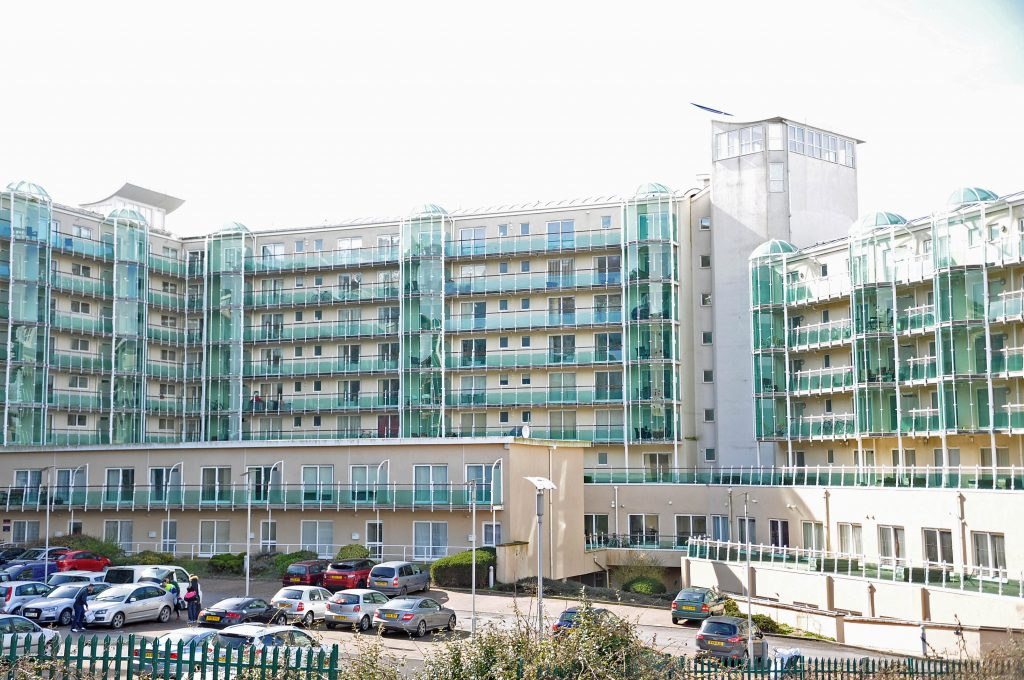 PHASE ONE: Atlantic House, with 206 flats, a swimming pool and fitness centre