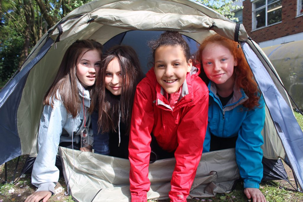 RISING TO THE CHALLENGE: Avonbourne College has entered a record number of students into the prestigious Duke of Edinburgh Awards. First-time Year 9 participants (from left to right) Leti Carter-Lopez, Emily Parker, Shailyse Saunders and Hope Germaine.