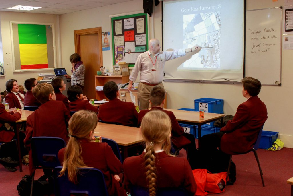 Students re-creating New Milton's history using Minecraft are pictured in one of their workshops. The students' innovative work has so impressed bosses at software giant Microsoft that the teenagers have been invited to share their plans and learn more about Minecraft at its London HQ.
