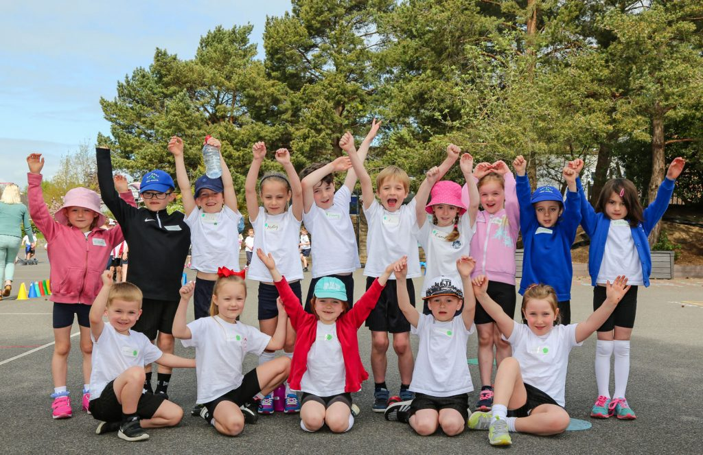 FRIENDLY RIVALS: Three Wimborne Academy Trust schools – Hayeswood First School, St John's CE First School and Colehill First School – came together for a multi-skills festival.