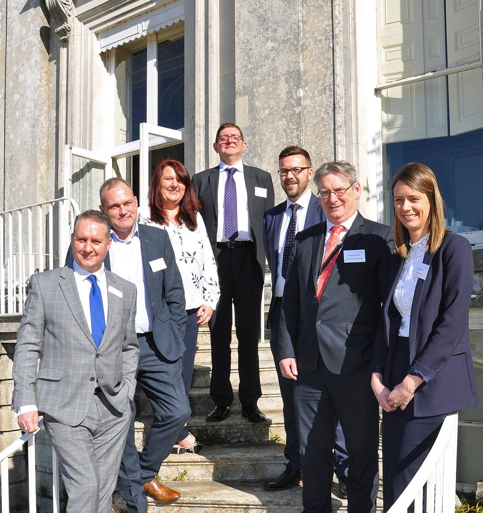From left: DCCI chief executive Ian Girling, DCCI president Paul Tansey, Sarah Eades from event sponsor A-One Insurance Group, executive director of the British Chambers of Commerce Ronan Quigley, Dorset Local Enterprise Partnership programme manager Rob Dunford, Dorset Councils Partnership strategic director Martin Hamilton and Sarah Young from Porter Dodson solicitors