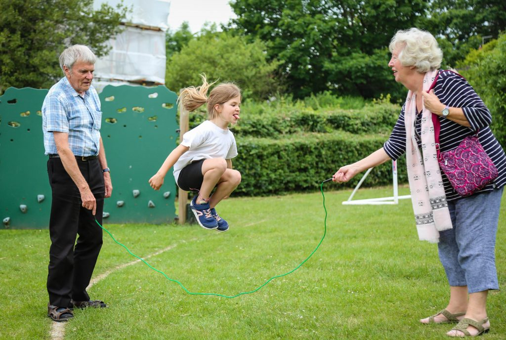 More than 100 grandparents attended St John's CE First School in Wimborne for a special celebratory event in their honour.
