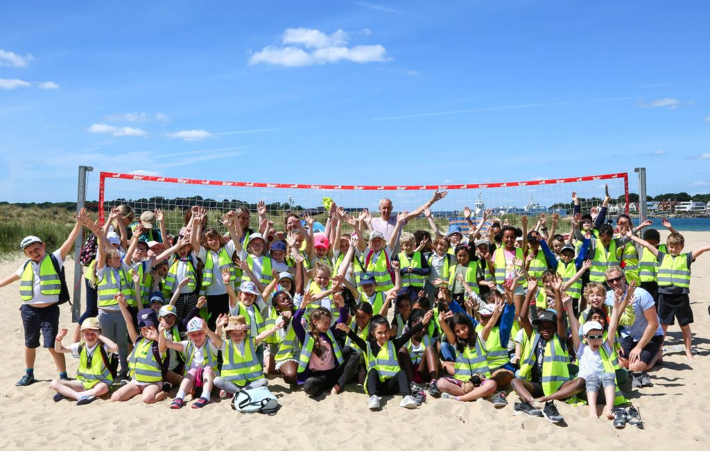 Hayeswood First School hosted pupils from Colville School in London and took them for a trip to the beach at Shell Bay.