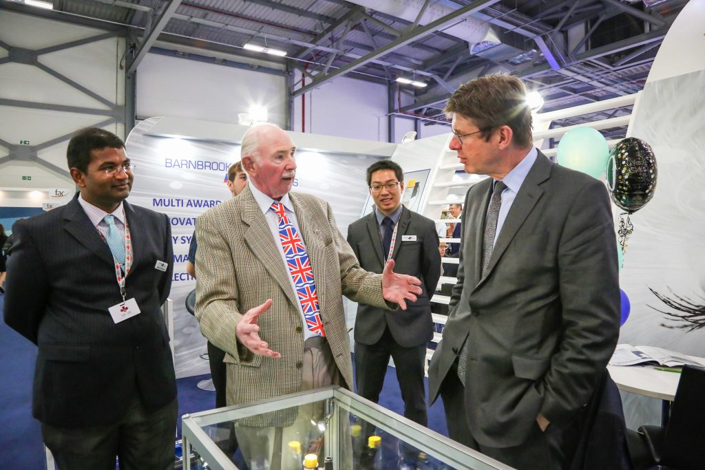 Barnbrook Systems managing director Tony Barnett with Secretary of State for Business, Energy and Industrial Strategy Greg Clark