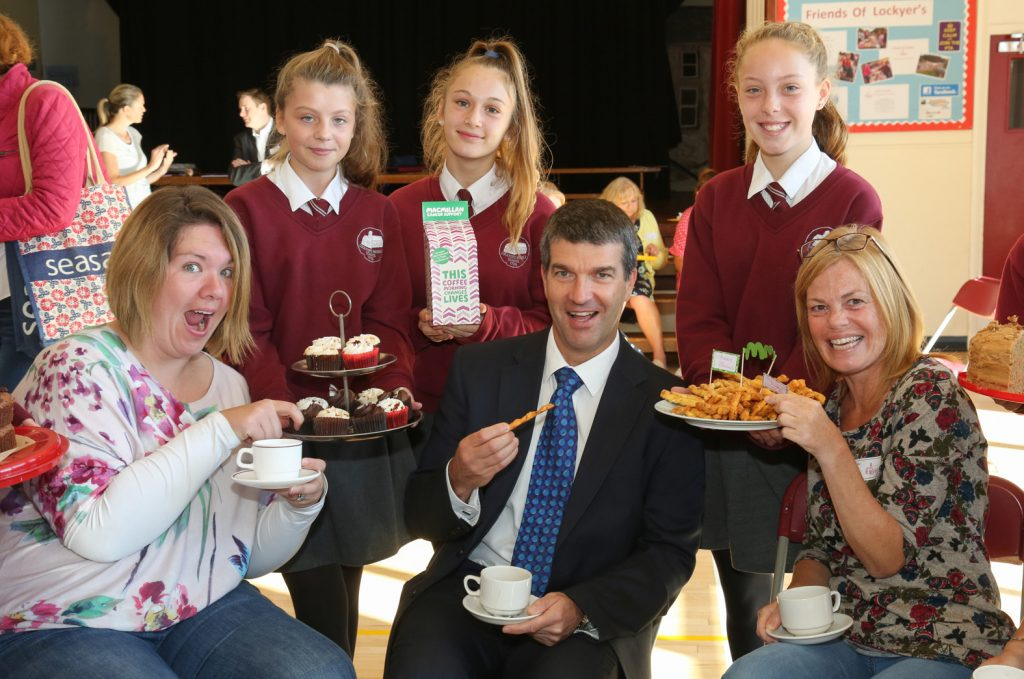 Lockyers Middle School host a Macmillan Coffee Morning for Year 5 parents who also had the opportunity of visiting their children in their classrooms to observe an english lesson.