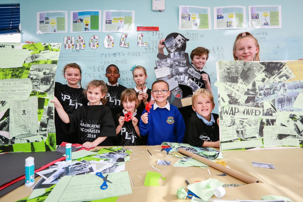 Pupils from all schools in the Inspire Learning Partnership teamed up to produce artwork commemorating 100 years since the end of the First World War. Blackfield Primary, Fawley Infants, Kanes Hill Primary, Hightown Primary and Blackfield Nursery combined for the project as part of the remembrance commemorations.