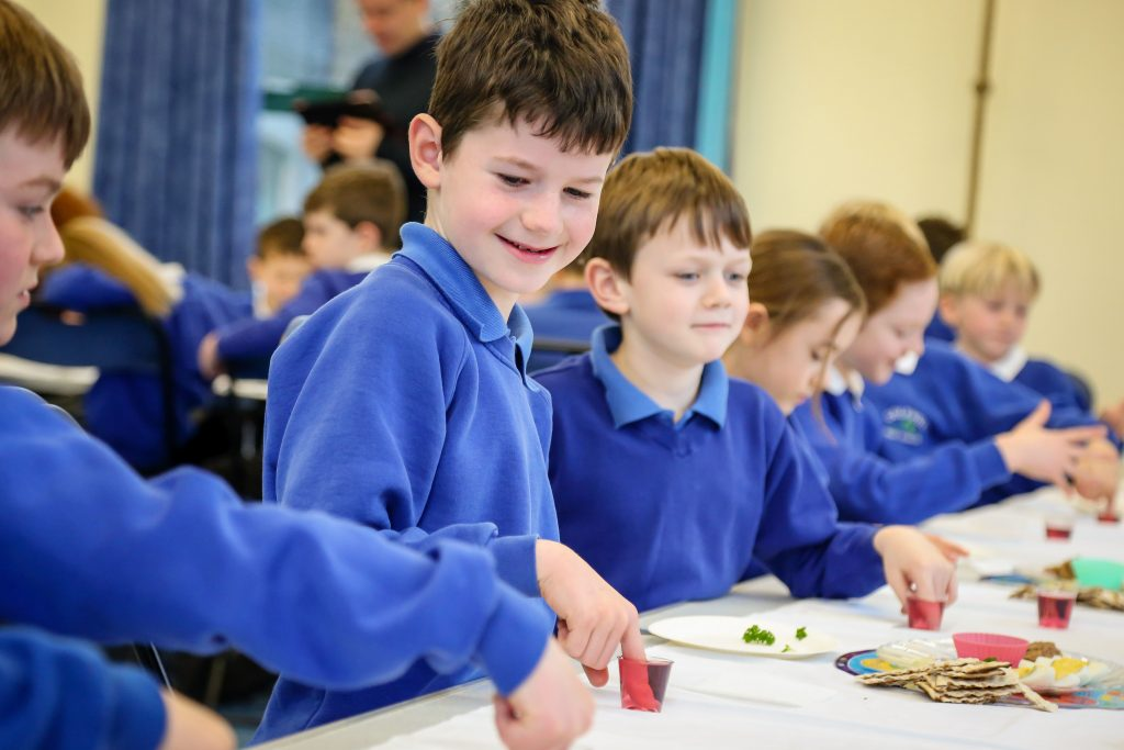 Pupils from Colehill First School took part in a Judaism workshop with Lynda Ford-Horne experiencing the songs, stories , food and culture of Jewish communities through the ages.