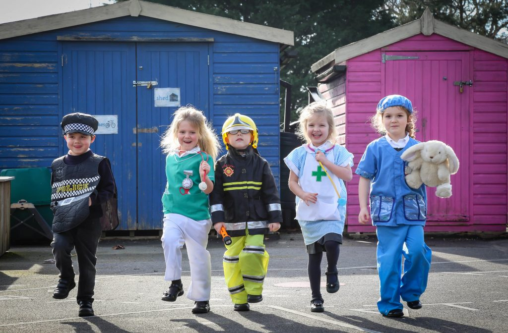 Hayeswood First School held a 'People Who Help Us' day, pupils enjoyed dressing up and learning about the helpful occupations.
