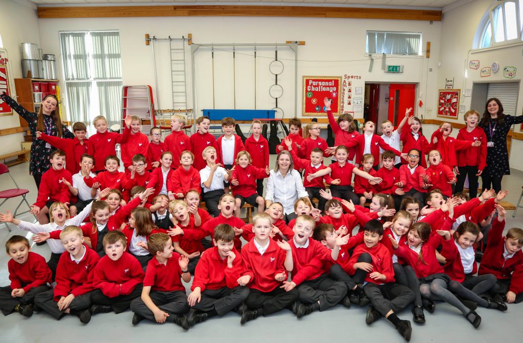 All pupils at St John's Church of England First School took part in a singing workshop with Liz Radford of Dorset Music Service.