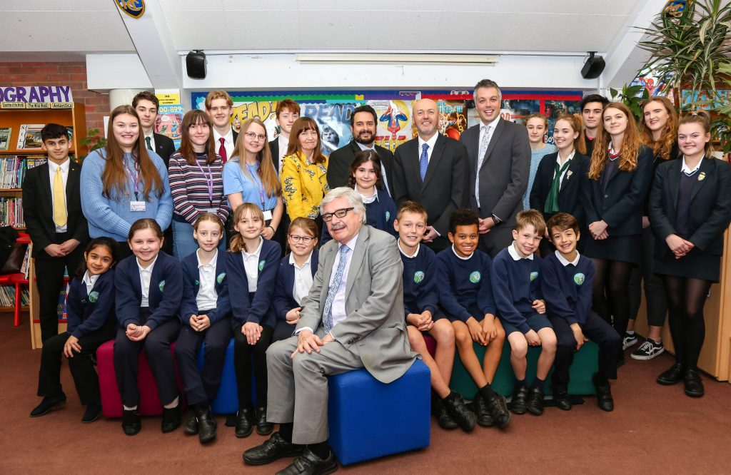 The House of Lords came to the Avonbourne Trust when Lord Whitty spoke to pupils from Avonbourne and Harewood Colleges, Avonbourne Sixth Form and Avonwood Primary.