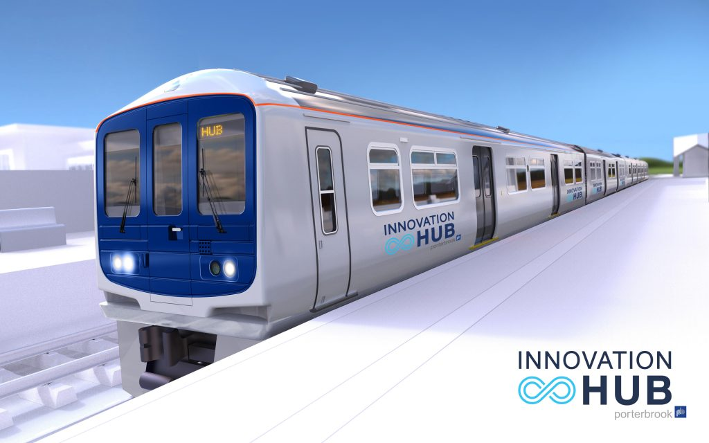 FUTURE: FliteTrak is among the businesses on Porterbook's new Innovation Hub - a converted train packed with all of the latest technology for 21st century railways
