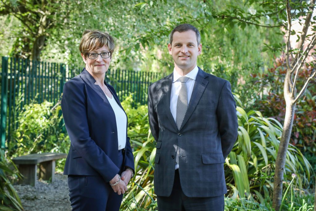 CEO Liz West with Brian Boyes new Director of School Improvement at Wimborne Academy Trust.