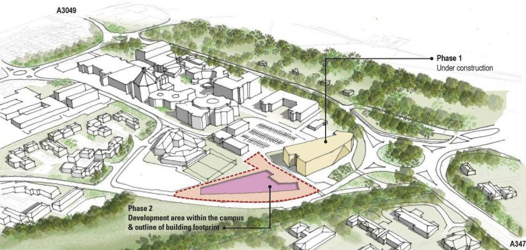GATEWAY: Artist's impression showing proposal for a new Gateway building at Bournemouth University