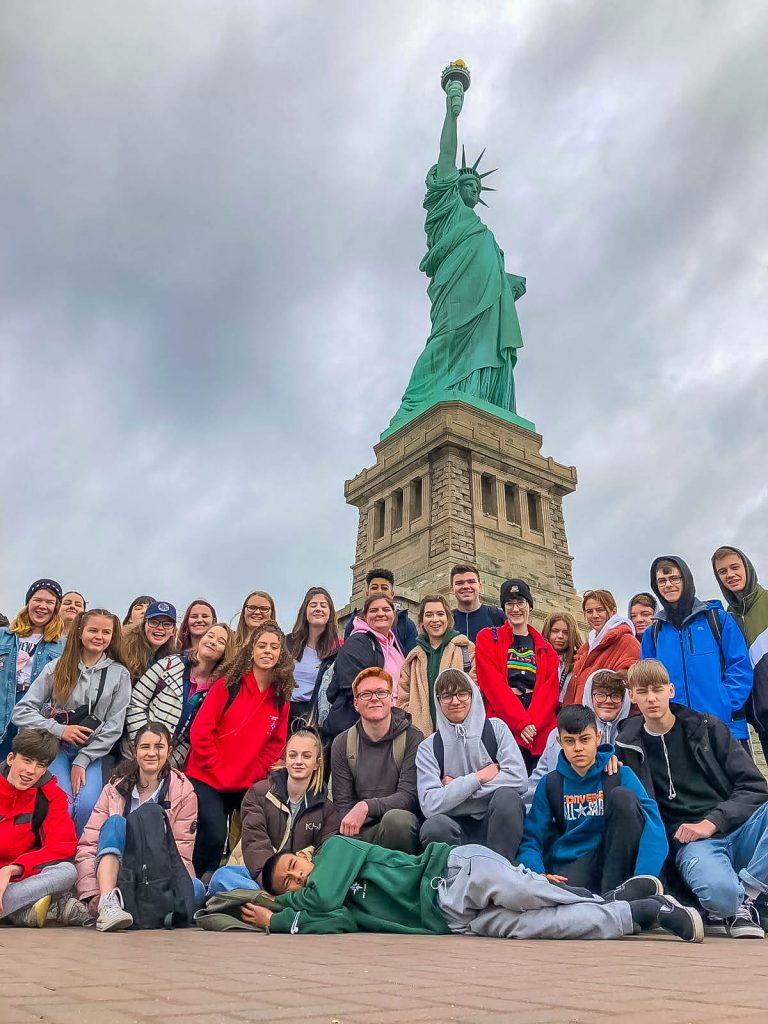 Arnewood students on a recent trip to New York.