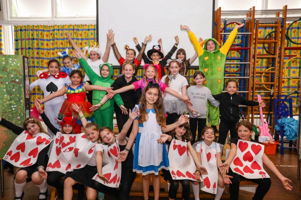 Hightown Primary School performed their version of Alice in Wonderland.