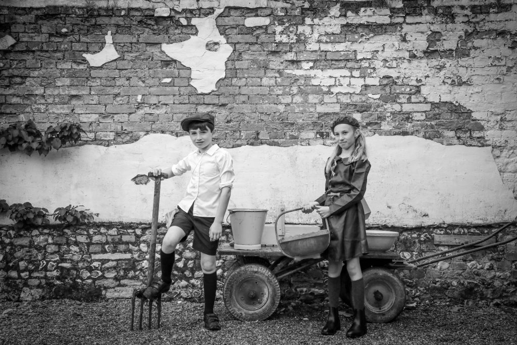 Pupils from Witchampton First School travelled back in time to be WW2 child evacuees when they visited Launceston Farm in Tarrant Launceston.