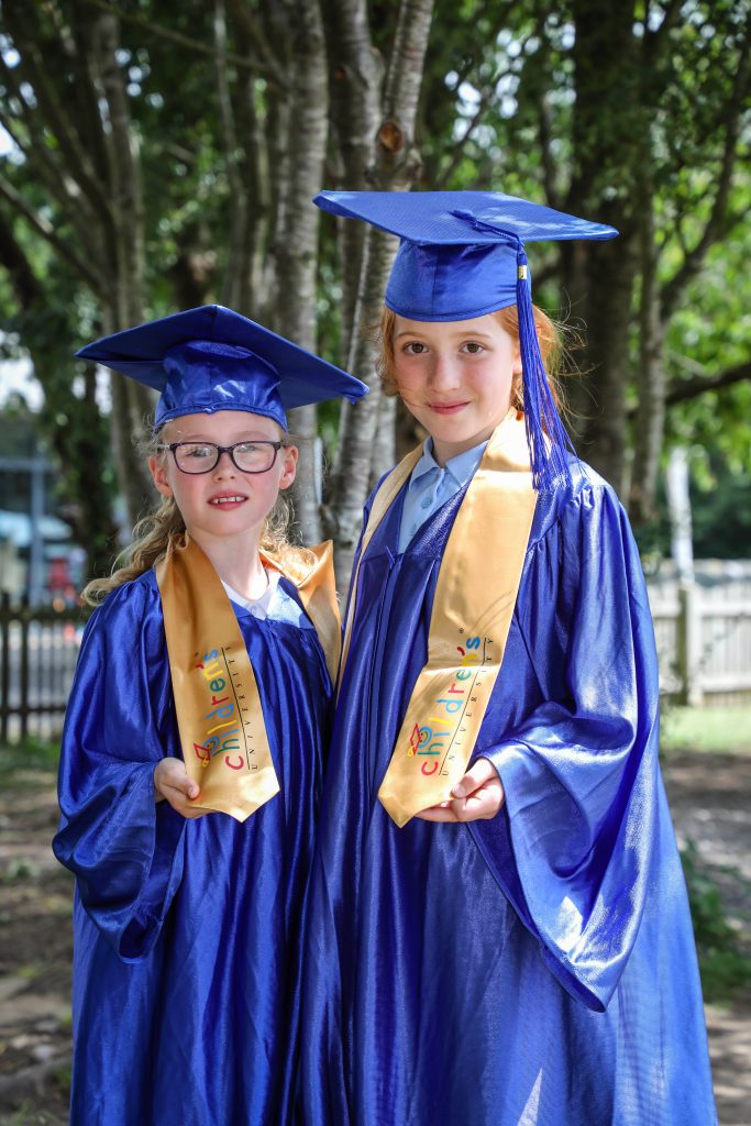 Pupils from Blackfield Primary and Fawley Infant schools took part in a graduation ceremony from the New Forest Children's University. Rhianne and Maia with their special awards.